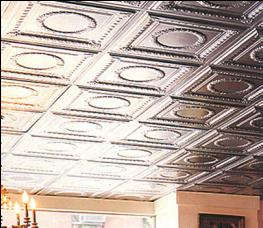 basement-ceiling-idea-Antique Reproduction in Tin
