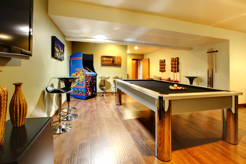a game room for your basement | long island basements